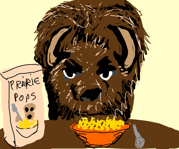 Cereal combined with Bison