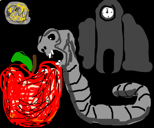 Midnight worm gets the apple