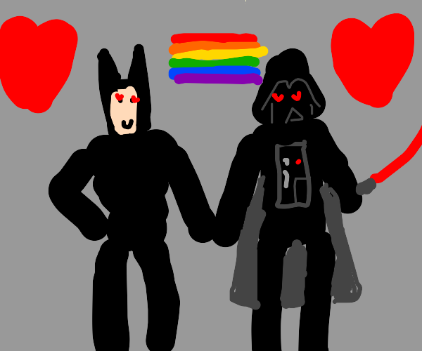 batman and darth vader are in a relationship