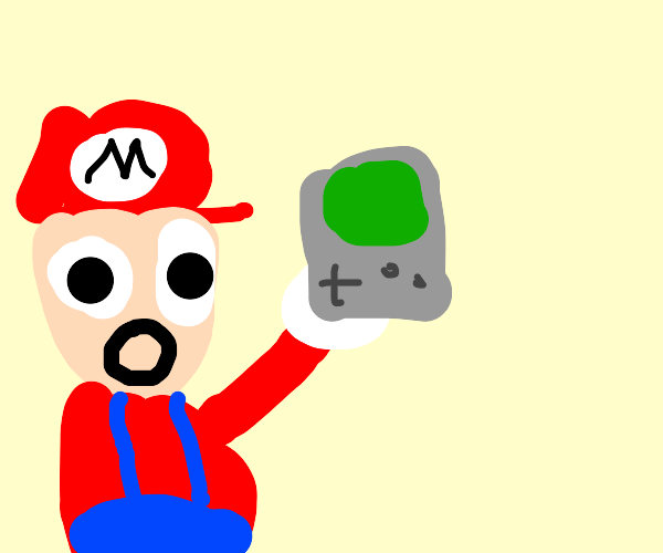 mario shocked at old console