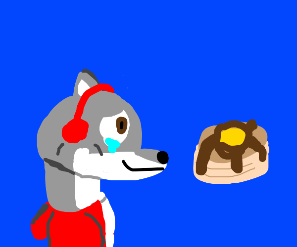 Wolf cries over pancakes