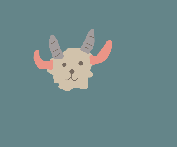 cute devil goat