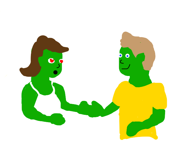 Green Chick find a bf