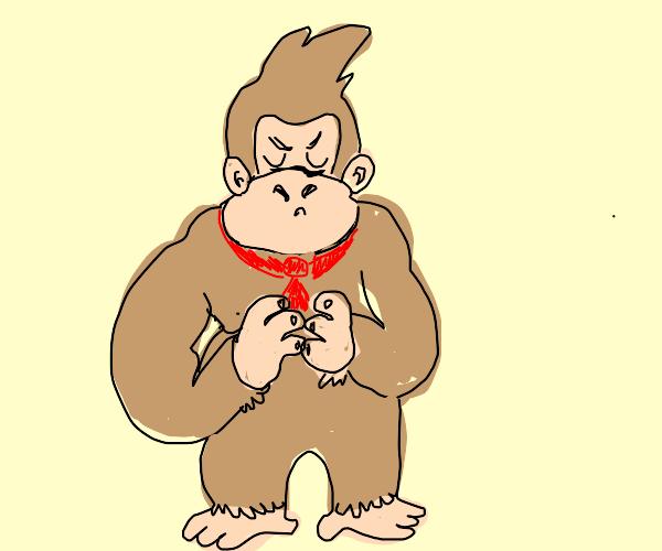 Donkey Kong pleading / touching fingers
