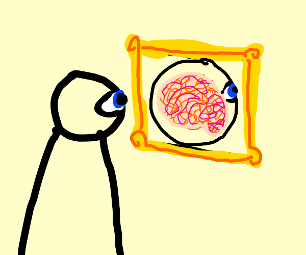 Man sees a picture of his brain
