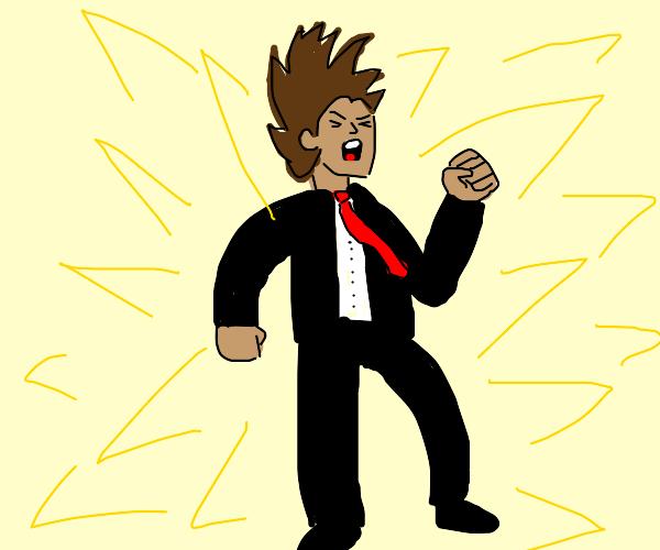 Super Saiyan Business Man