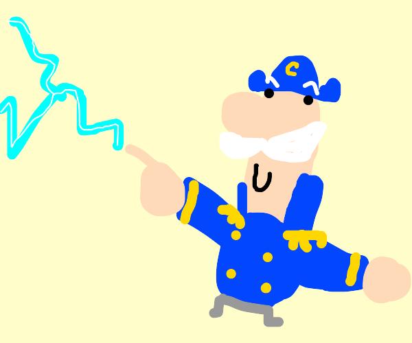 Cap'n Crunch shooting lightning