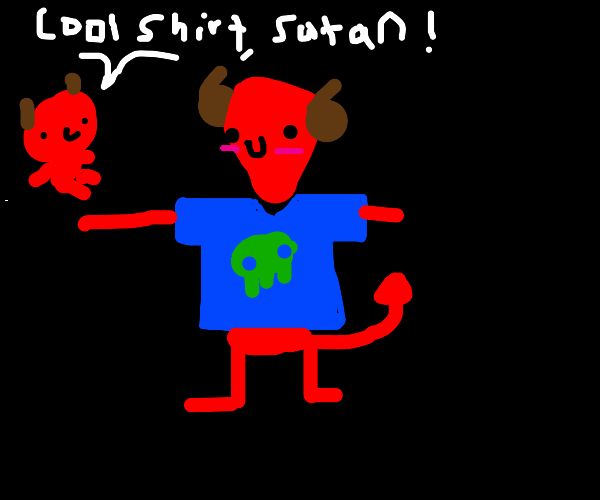 Satan has a cool t-shirt