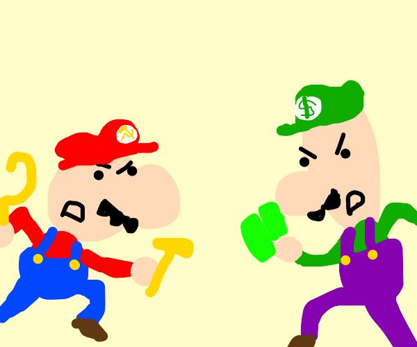 Communist Mario vs Capitalist Luigi