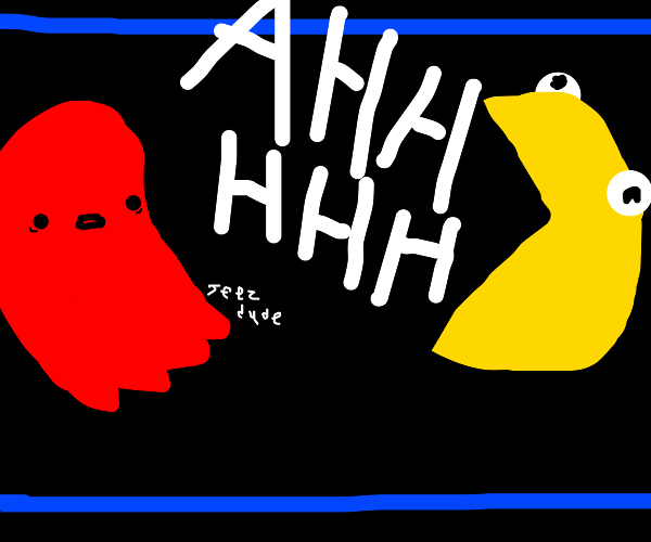 Pac-Man Startles a Ghost with a Scream