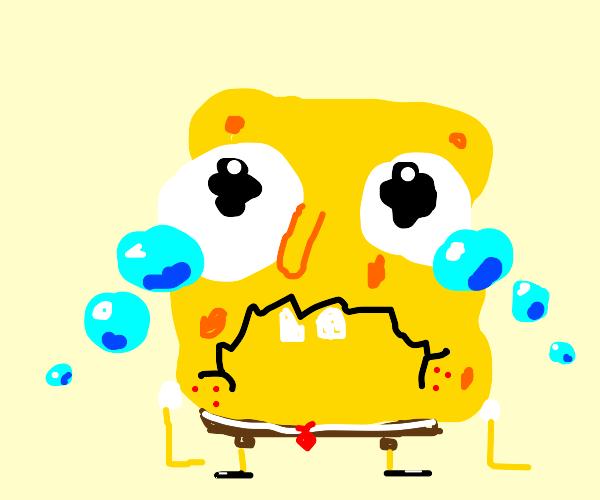 crying spongebob
