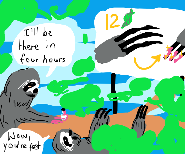 Sloth nail salon