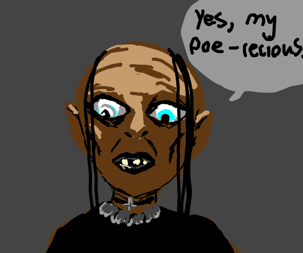 Gollum becomes goth
