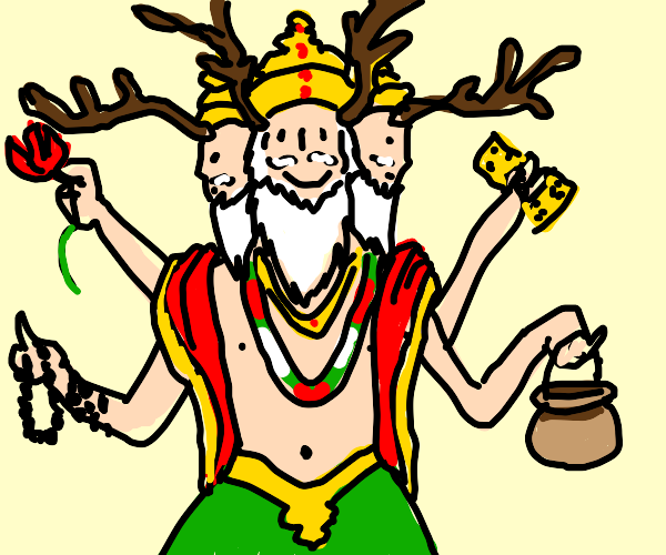 Brahma with antlers