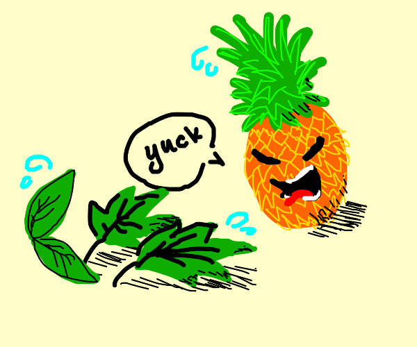 Pineapples don't like leaves