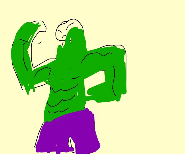 Hulk in purple pants