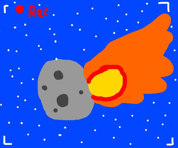 Asteroid filmed in HD