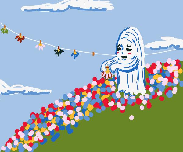 ghost folding flowers
