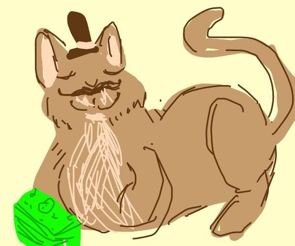 Pet the rich cat