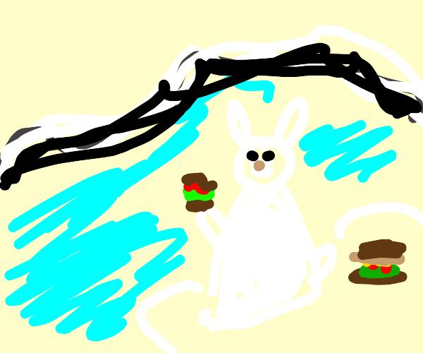 Polar Animals eating Burgers