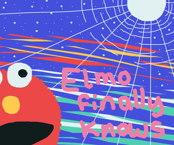 Elmo now knows what the sky is