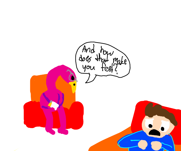 a flamingo is your therapist