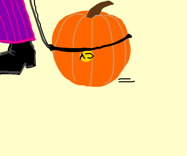 Walking your pet pumpkin