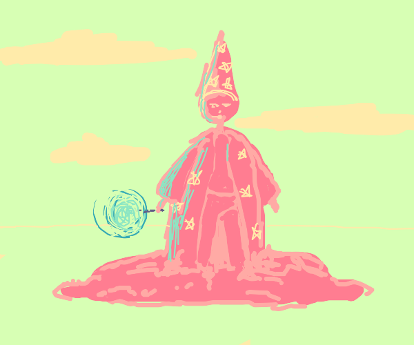 Melting pink wizard