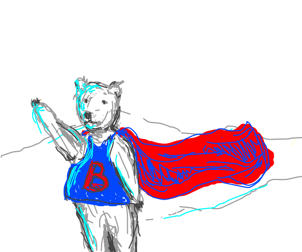 Superhero polar bear