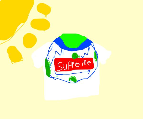 Earth with supreme shirt