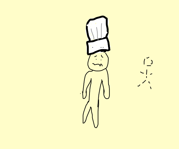 scared lonely chef