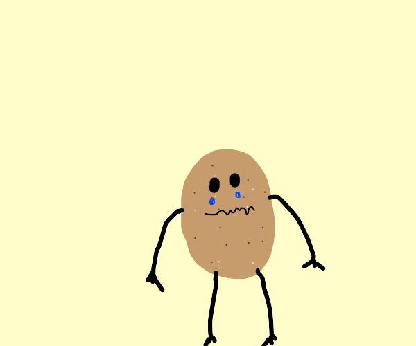 Limbed-potato crying