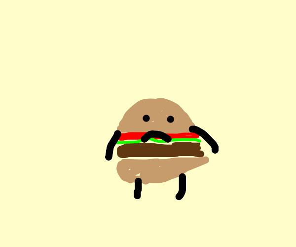Hamburger doesnt seem too happy...