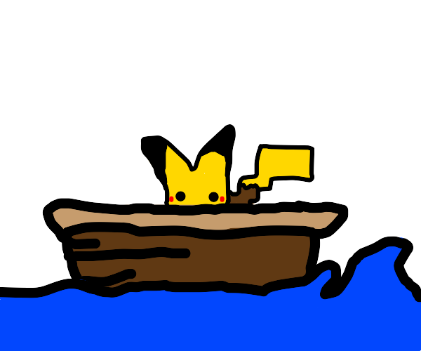 Pokémon in a boat!
