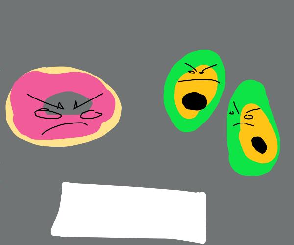 donut vs 2 avocados