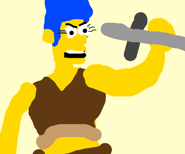 marge simpson as a warlock