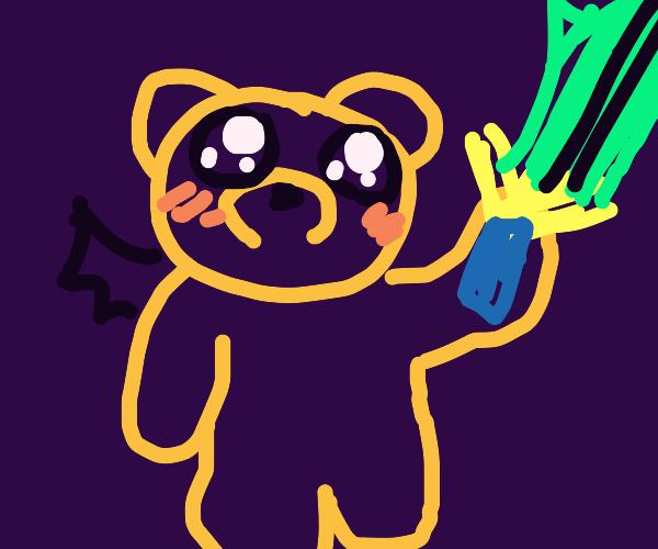 Teddy demon with sword