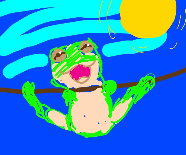 cute realistic frog