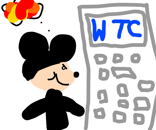 Mikey Mouse plots the detruction of the WTC