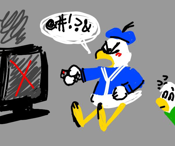 donald ducks tv is broken