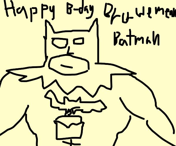 A birthday cuppy-cake for Batman