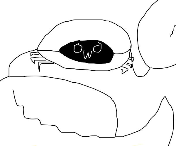 Crab making a OwO Face