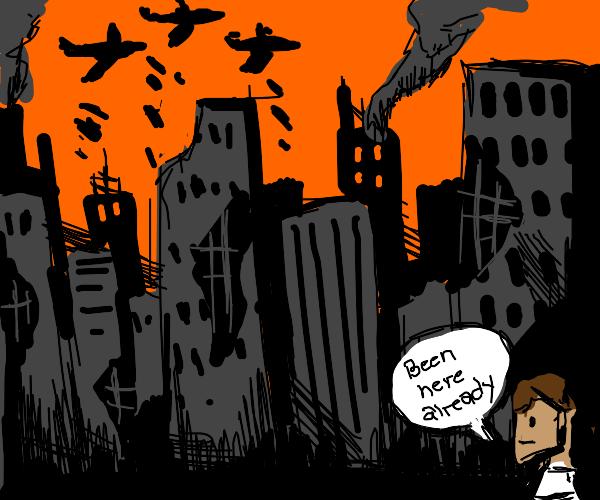 Whoops, got stuck in a dystopian novel again!