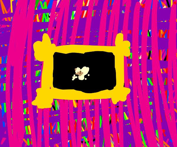 Popcorn picture frame