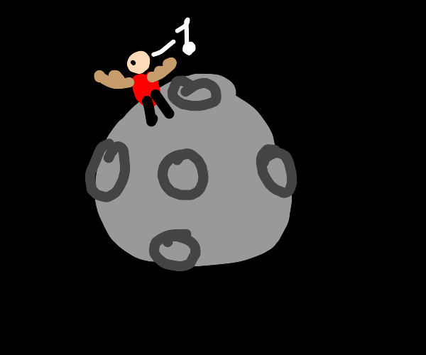 Baby on a tiny Moon sings