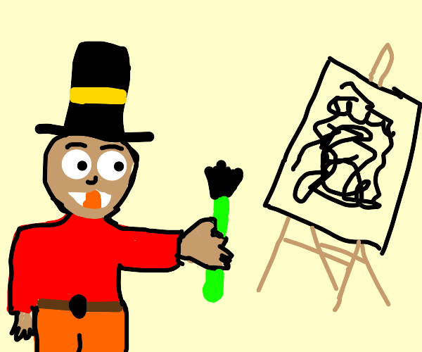 The mayor paints squiggly lines!