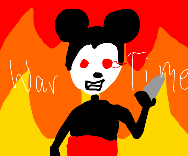 Mickey Mouse has had enough, it is war time!