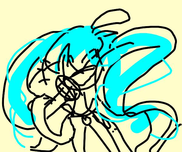Hatsune Miku singing