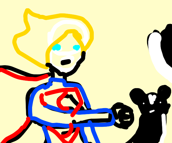 Superwoman punches Skunk