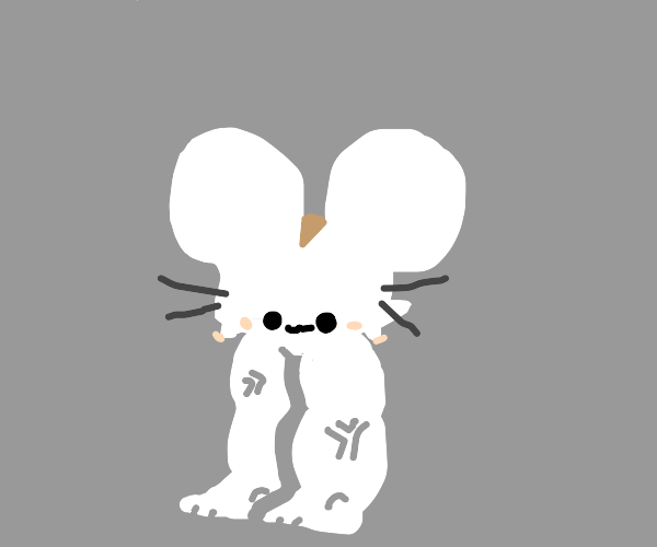 mouse doesn't have body but instead BUFF LEGS